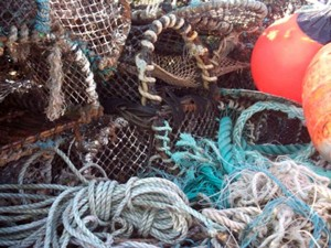 Crab Pots and Fishing Equipment in Crinan Harbour